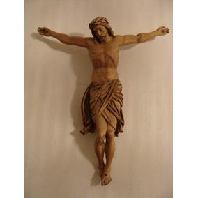 Antigua Talla En Madera De Cristo Crucificado De Alemania