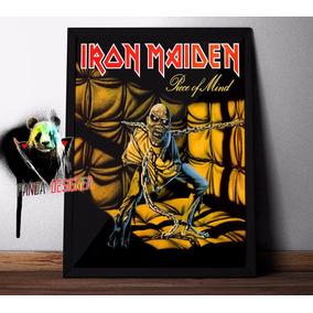 Quadro Iron Maiden Piece Of Mind Rock Musica Poster C/ Vidro