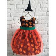 Fantasia Halloween Abóbora Vestido Baby Infantil Foto Festa