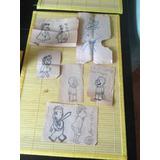 Dibujos Origi. La Pequeña Lulu 50¨s Vintage Y Muñeca 80´s