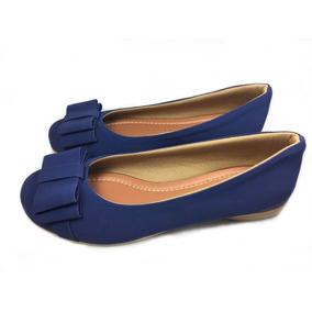 Sapatilha Sapato Calçados Feminino Azul Marinho Basica Linda