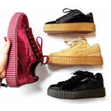 Puma Rihanna Fenty Veludo Camurça Couro Promoção