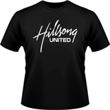 Camiseta Hillsong United Banda Evangélica Camisa Preta