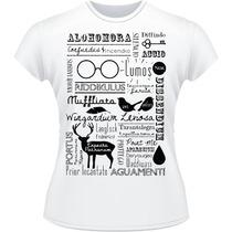 Baby Look Harry Potter Wingardium Feitiços Camisa Camiseta