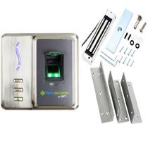 Controle Acesso Biométrico Cartao+ Fechadura Eletromagnetica