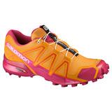 Tenis Mujer Salomon Trail Running Dama Speedcross 4 Naranja