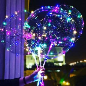 Balão De Led Com Haste Festa Casamento S/ Hélio