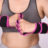 Guantes Crossfit Gym Rosas Con Protección Muñeca Mujer Dama