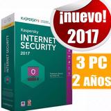 Antivirus Kaspersky Internet Security 2017 3 Pc 2 Años