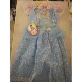 Vestido Azul Cenicienta Con Luces Talla 4-6x 3+