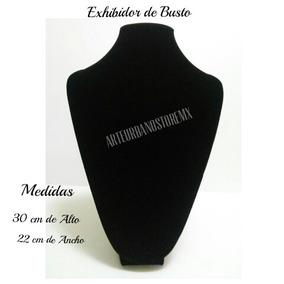 Exhibidor De Busto Para Collar En Color Negro Y Gris