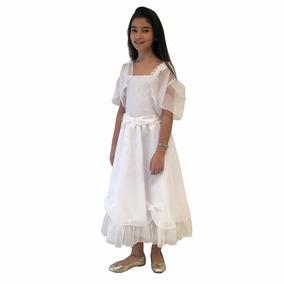 Solero Comunión Blanco Vestido Nena Keiky House - Flor