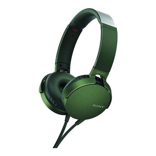 Audífonos Sony MDR-XB550AP verde