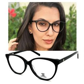 Armação P/ Oculos De Grau Feminino Ch1234 Acetato Original