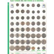 Coleção Completa Com 51 Moedas Reforma Monetária - Leia F.c