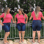 Shorts Bermuda Jeans Plus Size Hot Pants Lycra E Elastano