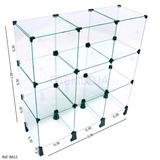 Balcão Em Vidro P/ Loja 0,90 X1 Expositor - Vitrine-estante