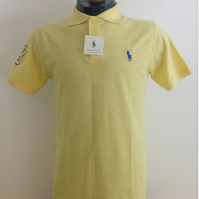Camisa Playera Polo Ralph Lauren Color Amarillo Hombre