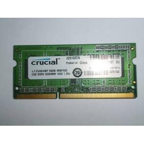 Memoria Ram 2gb Para Laptop Ddr3 Crucial 1600 Mhz Pc3-12800