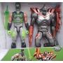 2 Figuras Accion Max Steel Vs Elementor Metal + Accesorios
