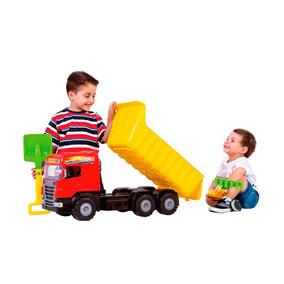 Caminhão Gigante Caçamba Articulável Vermelho - Magic Toys