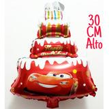 Globo Forma De Torta Cars Disney. Feliz Cumpleaños