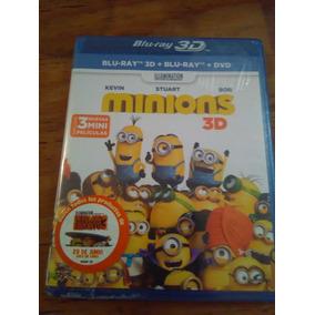 Los Minions Bluray 3d + Bluray + Dvd ( Mi Villano Favorito )