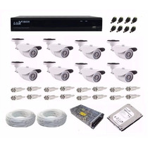 Kit Cftv Dvr Full Hd 1080p Luxvision 8 Ch 8 Câmera Ahd 1.3mp