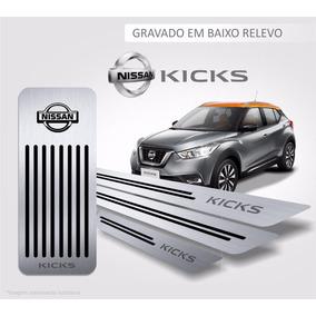 Soleira + Descanso De Pé Nissan Kicks Aço Inox Premium