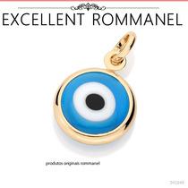Pingente Olho Grego 1,7 Cm Fol. Ouro 18k Rommanel