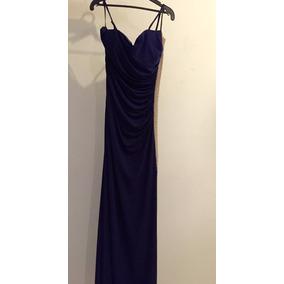 Oferta Rebajado Vestido Largo Liz Minelli Azul Marino Grande