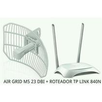 Combo Ubiquiti Argrid 5.8 M5 23dbi + Roteador Tp-link 2 Ant.