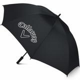Callaway Cg Logo 60 Sgl Hombre Paraguas Abierto, Negro, 60