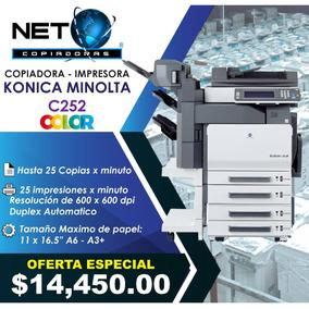 Copiadora Impresora Konica Minolta Bizhub C252