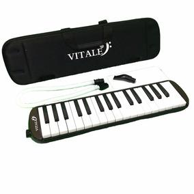 Vitale Qm32-5bk Melodica 32 Teclas Estuche Ligero Negro