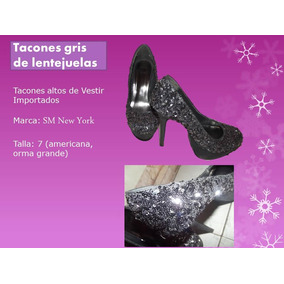 Tacones Altos Color Gris