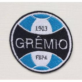Patch Bordado Escudos Times De Futebol Gremio Termocolante