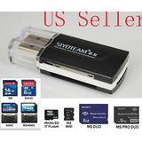 Usb Card Reader Adaptador Memory Stick Ms Pro - 221526223318