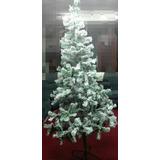 Arbol De Navidad Nevado 2,10 Metros