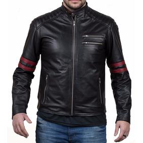 Campera De Cuero De Hombre Moto Race Marca Beware (fabrica)
