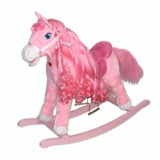 Caballo Pony Mecedor Peluche Rosa Penny Con Sonidos Premium