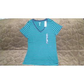 Camiseta A Rayas Mujer Marca Gap Talla M