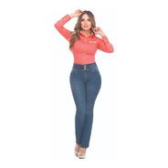 Jeans Plus Size Cromo Jeans Bota Recta Tiro Alto