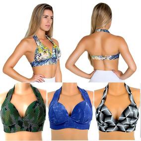 Kit 05 Tops De Malhar Moda Fitness Roupas Femininas Atacado
