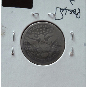 Moneda 1/4 Dolar 1897 S . U.s.a. Plata Ley.900 Liberty .