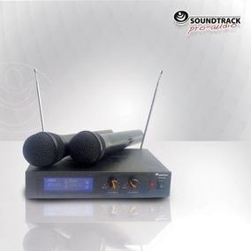 Micrófono Inalambrico Doble Sound Track Stw-vh2 Vhf