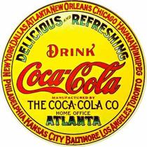 Carteles Antiguos De Chapa Gruesa 50cm Coca Cola Dr-357