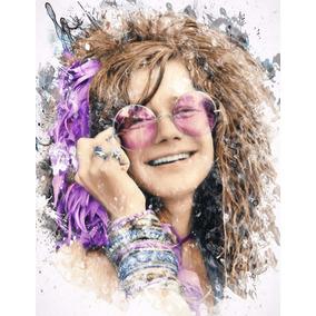 Janis Joplin Poster Arte Rock Woodstock Cartaz A3 42x29cm