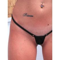Micro Bikini Fio Dental Preto Transparente Mini Sexy Sensual