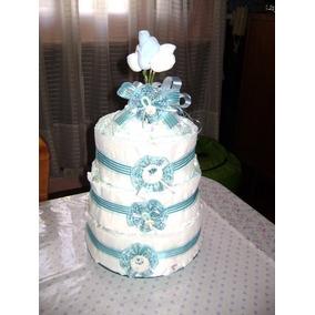 Torta De Pañales : 50 Pañales Y Medias.